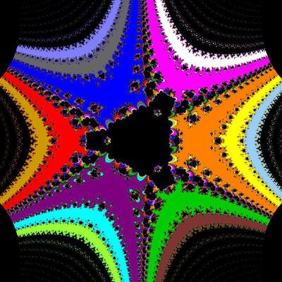Basins of Attraction sin(z^3-1)=0 Whittaker II-Verfahren