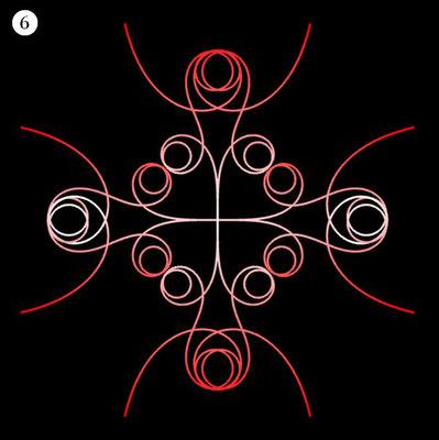 Ornament aus funktionalen Spiralen - Beispiel 06