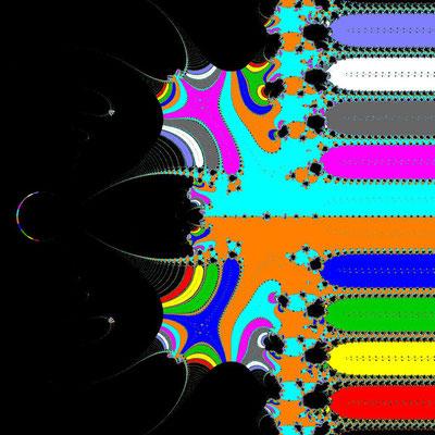 Basins of Attraction exp(z)-z=0 King-Verfahren, beta=-2.3, Zoom