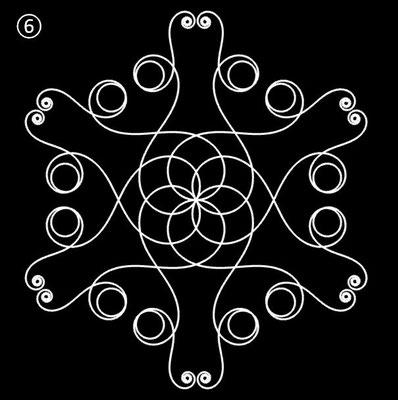 Ornament aus polynomialen Spiralen - Beispiel 06