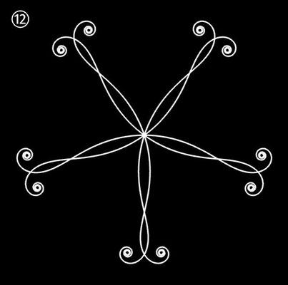 Ornament aus polynomialen Spiralen - Beispiel 12