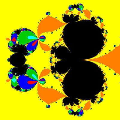 Basins of Attraction z^6-10z^3+8=0, Chun III-Verfahren