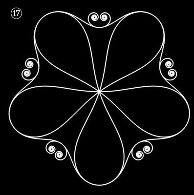 Ornament aus polynomialen Spiralen - Beispiel 17