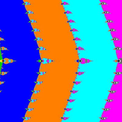 Basins of Attraction sin(z)=0 Basto-Verfahren, B=[-5, 5]x[-5, 5]