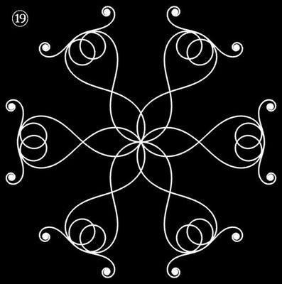 Ornament aus polynomialen Spiralen - Beispiel 19