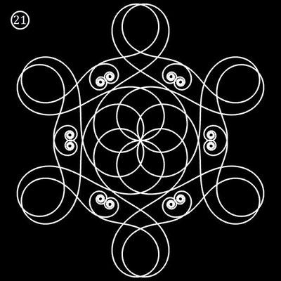 Ornament aus polynomialen Spiralen - Beispiel 21