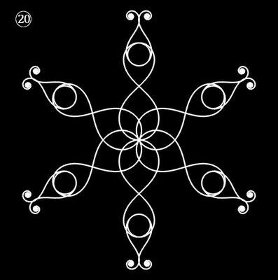 Ornament aus polynomialen Spiralen - Beispiel 20
