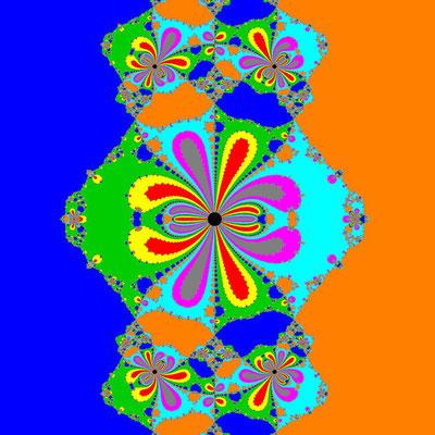 Basins of Attraction (z+4)(z+3)(z+2)(z+1)(z-1)(z-2)(z-3)(z-4)=0 Rafiq-Rafiullah-Verfahren, B=[-0.6, 0.6]x[-0.6, 0.6]