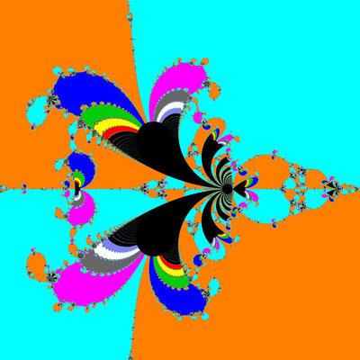 Basins of Attraction exp(z)-z=0 King-Verfahren, beta=0.2, Zoom