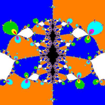 Basins of Attraction (z+4)(z+3)(z+2)(z+1)(z-1)(z-2)(z-3)(z-4)(z-2i)=0 Jarratt-Verfahren, B=[-0.2, 0.2]x[0.9, 1.3]