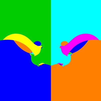 Basins of Attraction (z+4)(z+3)(z+2)(z+1)(z-1)(z-2)(z-3)(z-4)=0 Laguerre-Verfahren, Zoom