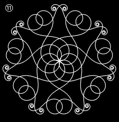 Ornament aus polynomialen Spiralen - Beispiel 11
