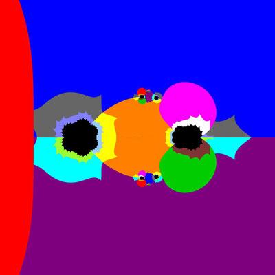 Basins of Attraction sin(z^3-1)=0 Laguerre-Verfahren, Zoom
