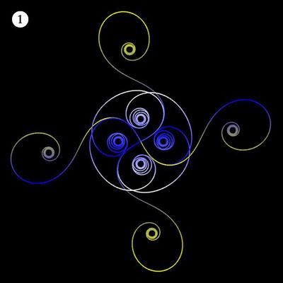 Ornament aus funktionalen Spiralen - Beispiel 01