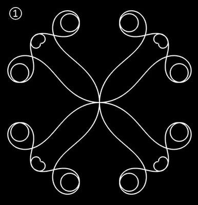 Ornament aus polynomialen Spiralen - Beispiel 01