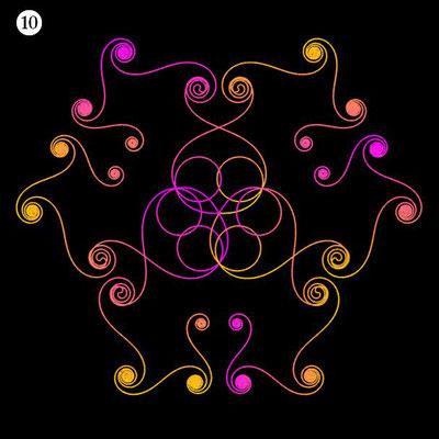 Ornament aus funktionalen Spiralen - Beispiel 10