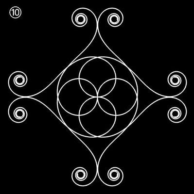 Ornament aus polynomialen Spiralen - Beispiel 10