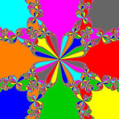 Basins of Attraction z^8+3z^4-4=0 Bahgat-Verfahren