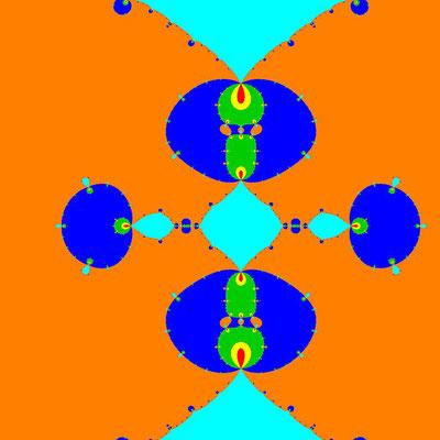Basins of Attraction z^6-14z^4+49z^2-36=0 Ostrowski-Verfahren, Zoom 10^6