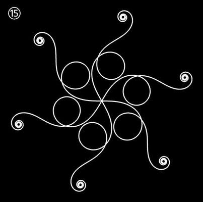 Ornament aus polynomialen Spiralen - Beispiel 15
