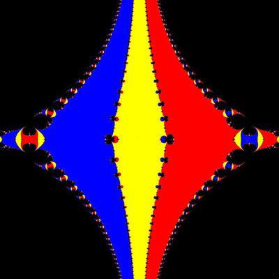 Basins of Attraction z^3-z=0 Steffensen-Verfahren, beta=-0.05, B=[-10, 10]x[-10, 10]