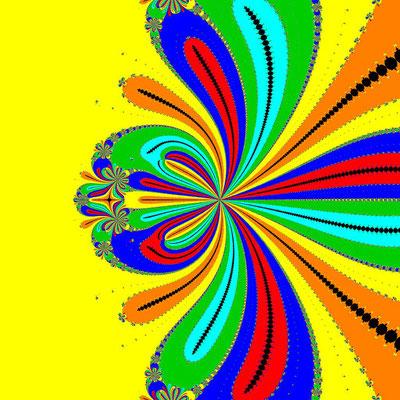 Basins of Attraction z^6-10z^3+8=0, King-Verfahren, beta=-2.3