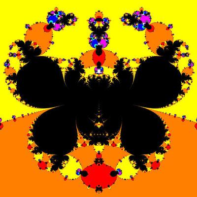 Basins of Attraction sin(z^2-1)=0 Chun-Lee-Neta-Verfahren, Zoom