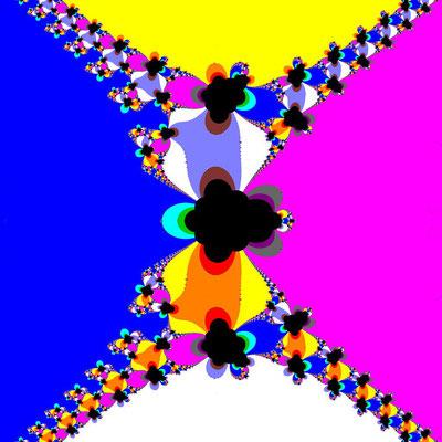 Basins of Attraction sin(z^2-1)=0 Basto-Verfahren, B=[-1.3, 1.3]x[-1.3, 1.3]