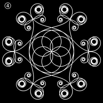 Ornament aus polynomialen Spiralen - Beispiel 04