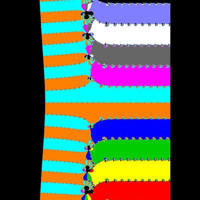 Basins of Attraction exp(z)-z=0 Halley-Verfahren