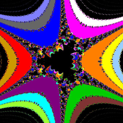 Basins of Attraction sin(z^3-1)=0 Fang-Ni-Chen-Verfahren