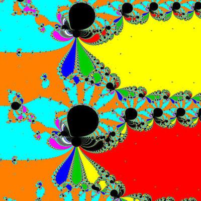 Basins of Attraction exp(z)-z=0 Feng-Verfahren, Zoom