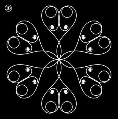 Ornament aus polynomialen Spiralen - Beispiel 18