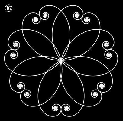 Ornament aus polynomialen Spiralen - Beispiel 16