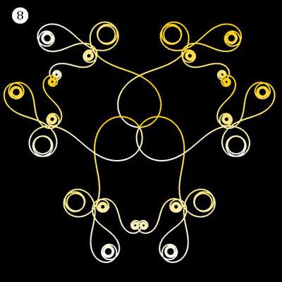 Ornament aus funktionalen Spiralen - Beispiel 08