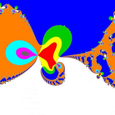 Basins of Attraction (z+4)(z+3)(z+2)(z+1)(z-1)(z-2)(z-3)(z-4)(z+2i)=0 Basto-Verfahren, Zoom