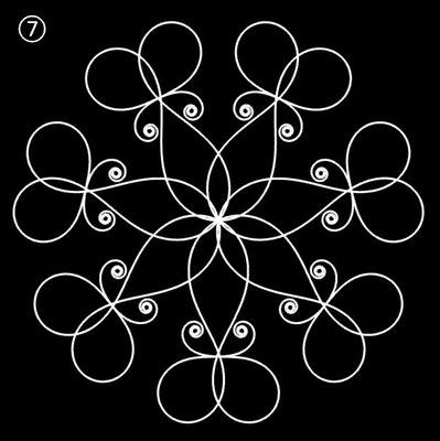 Ornament aus polynomialen Spiralen - Beispiel 07