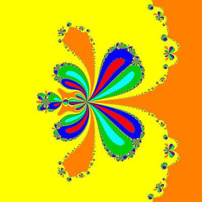 Basins of Attraction z^6-10z^3+8=0, Sharma-Bahl-Verfahren