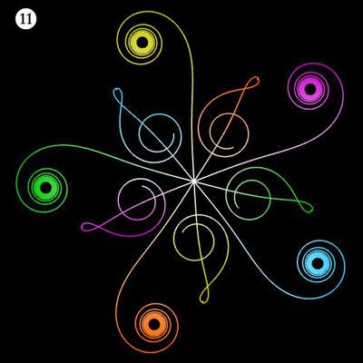 Ornament aus funktionalen Spiralen - Beispiel 11
