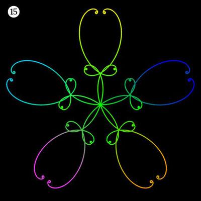 Ornament aus funktionalen Spiralen - Beispiel 15