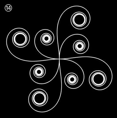 Ornament aus polynomialen Spiralen - Beispiel 14