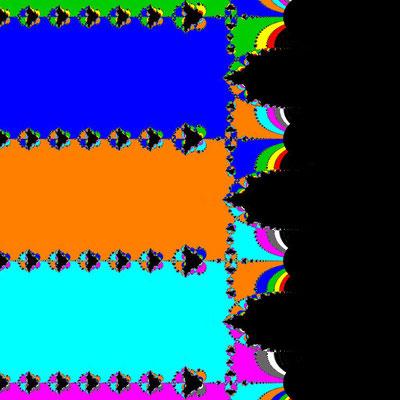 Basins of Attraction sinh(z)=0 Basto-Verfahren, B=[-5, 5]x[-5, 5]