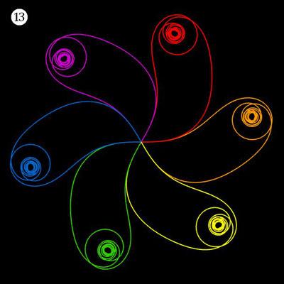 Ornament aus funktionalen Spiralen - Beispiel 13