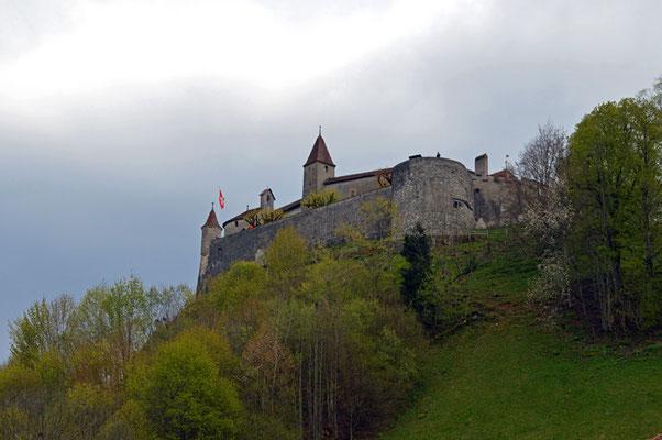 Nr. 5017/ Woche 17 / Schloss Gruyerz, Blick Richtung Süden / 6000 x 4000 / JPG-Datei
