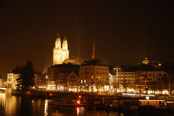 Nr. 111 / 23.02.11 / Zürich Blick nach Norden von der Quaibrücke  / 3872 x 2592 / JPG-Datei