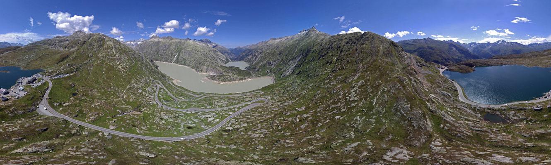 Grimselpass, Blickwinkel 360 Grad