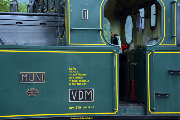 Nr. 2125 / 05.06.2014 / Etzwilen, Dampflok Muni / 6000 x 4000 / JPG-Datei