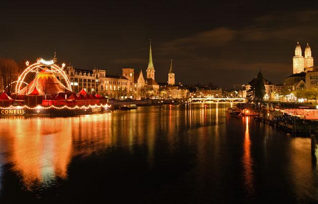 2019 Woche 52, Zürich, Blick von der Quaibrücke