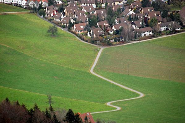 5050 / Albispass Hochwacht, Blick Richtung Norden Langnau am Albis / 3872 x 2592 / JPG-Datei