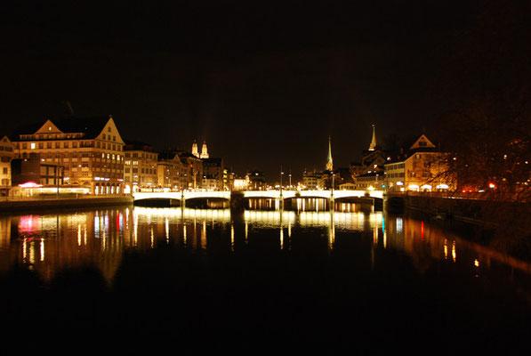 Nr. 103 / 18.02.12 / Zürich Limmat Rud. Brunbrücke / 3872 x 2592 / JPG-Datei